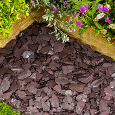Plum Slate chippings 40 MM