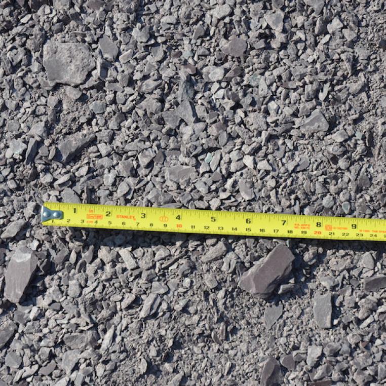 Plum Slate crushed rock fines