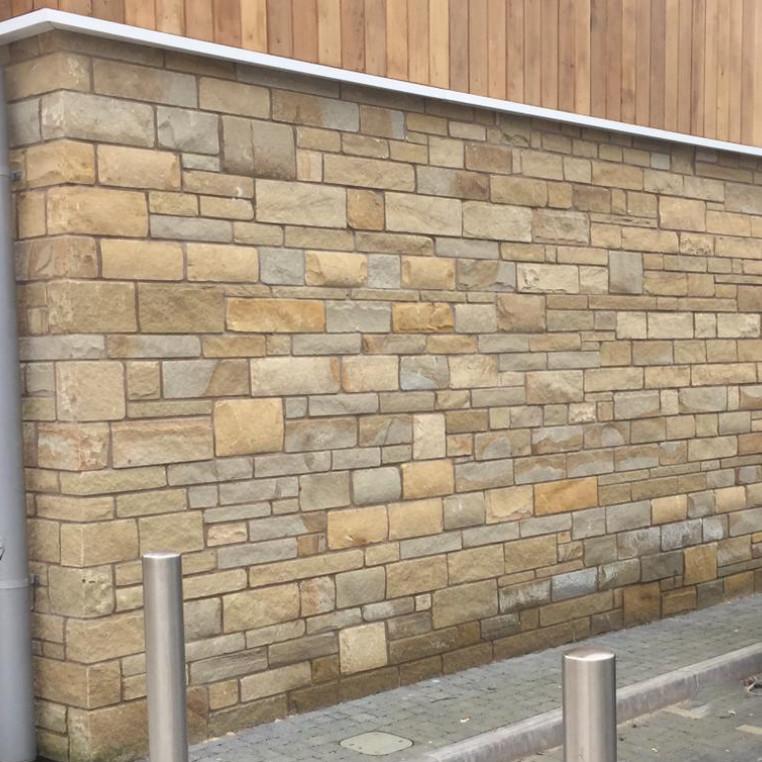 Cumbrian Buff/Brown Tumbled sandstone walling