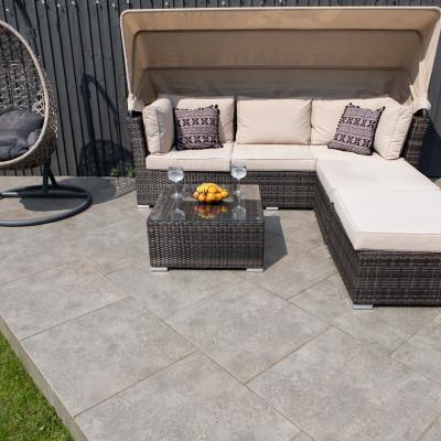 Autumn Grey Porcelain Tile 900 x600mm Pack thumbnail