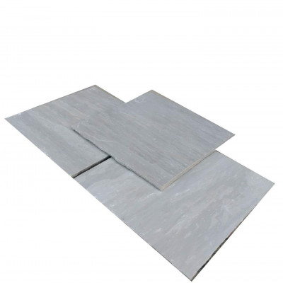 Calibrated Kandla Grey Riven Sandstone Paving