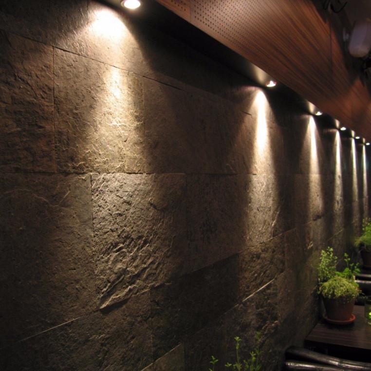 Natural Slate Veneer - Copper coloured slate Wall Cladding