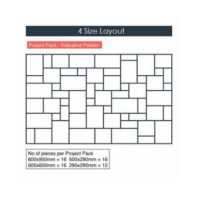 Calibrated Kandla Grey Riven Sandstone Paving thumbnail
